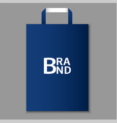eco blue hand bag icon realistic style vector image
