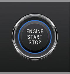 Engine start stop button car dashboard element vector