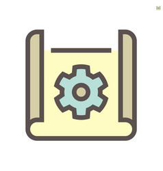 engineering drawing concept icon design on white vector image