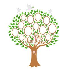family tree generation genealogical tree vector image