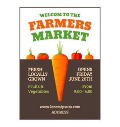 Farmers market poster vector image