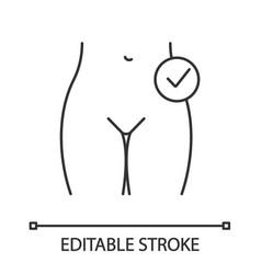 Female reproductive health linear icon vector