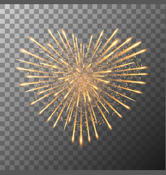 firework bursting in heart shape valentines day vector image