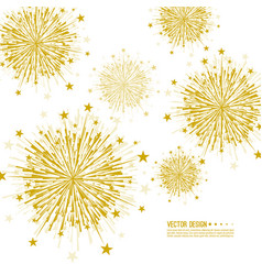 Firework design vector