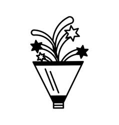 Fireworks celebration isolated icon vector