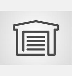 garage icon sign symbol vector image