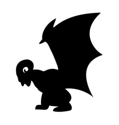 Gargoyle silhouette ancient traditional symbol vector