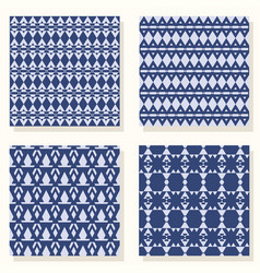 geometric set pattern vector image