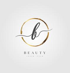 Gold elegant initial letter type b vector