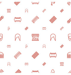 Haircut icons pattern seamless white background vector