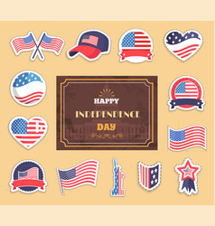 Happy independence day color vector