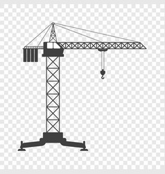 Icon of the tower crane on vector