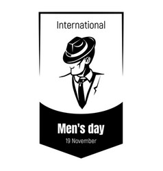International elegant men day icon simple style vector