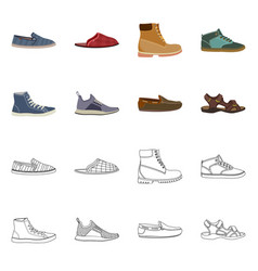 Isolated object of shoe and footwear symbol vector