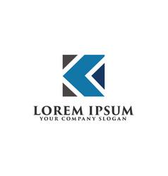 letter k logo design concept template vector image