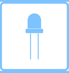 light-emitting diode icon vector image