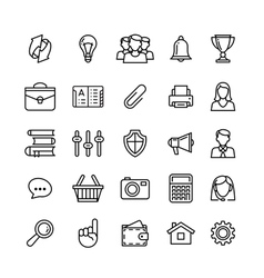 line phone icons set isolated Icons for business vector image