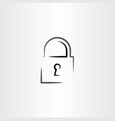 lock icon logo design vector image