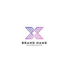 Logo letter x gradient color vector
