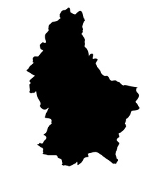 Luxembourg map in vector