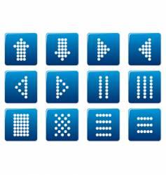Matrix symbols square icons vector