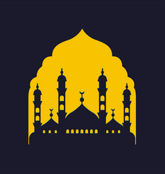 Mosque islamic logo vector