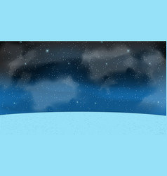 naturalistic starry sky at night vector image