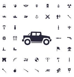 Offroad car icon vector
