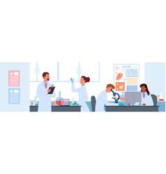 people work in vaccine development science vector image