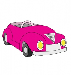 pink convertible vector image