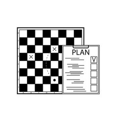 plan tactic scheme and strategy business vector image
