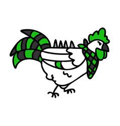 Punk rock cockerel chicken vector