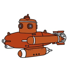 Red small submarine vector image vector image