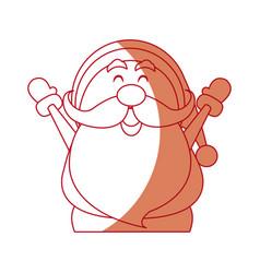 Santa claus cartoon character merry christmas vector