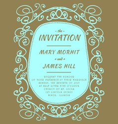 Scribble Invitation vector image