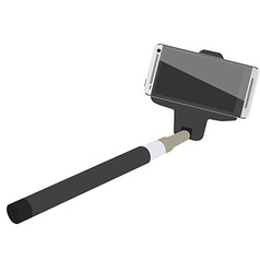 Selfie stick with smartphone vector image