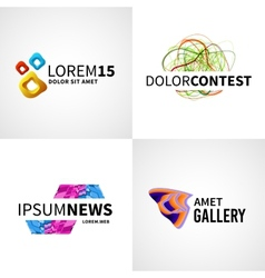 Set modern colorful abstract news web contest vector