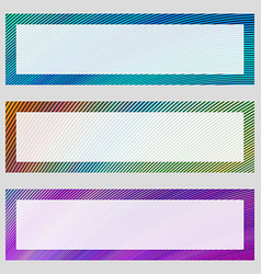 Set of colorful banner frames vector image