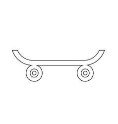 skateboard icon design vector image