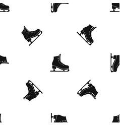 Skates pattern seamless black vector