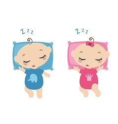 Sleeping little childrens vector