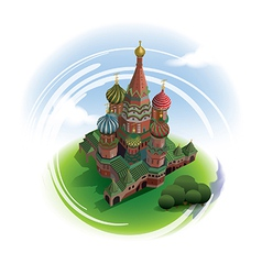 St Basils Cathedral from top vector