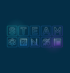 Steam colored outline on dark vector