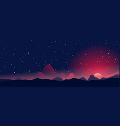 sunrise on fantastic planet landscape panorama vector image