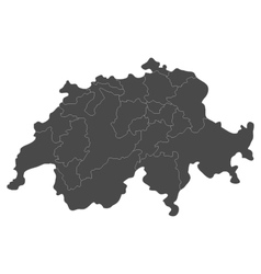 Swiss map with regions vector image