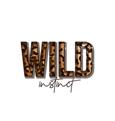 t-shirt design with leopard print slogan t-shirt vector image