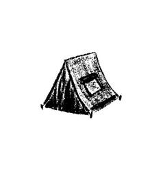 tent icon vintage vector image