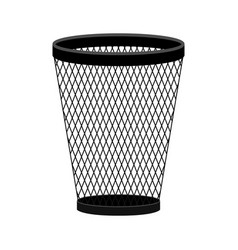 trash can icon in modern flat style vector image