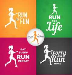 typographic motivational running quotes vector image