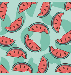 watermelons pattern background vector image